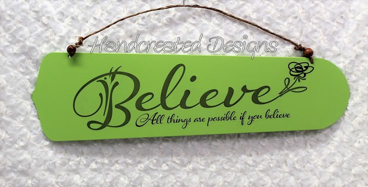 Mint Green Believe Quote Fan Blade Sign, Repurposed Ceiling Fan Blade, Upcycled Wall Decor, Recycled Wall Art, Wooden Sign by HandcreatedDesign on Etsy