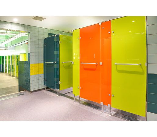 Cabrillant - so most people aren't interested in pubic bathroom or shower doors but these are very cool!