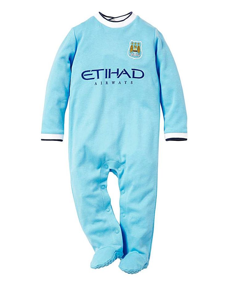 Manchester City Football Club Sleepsuit The Manchester City Football Club sleepsuit is designed to replicate the Manchester City home kit for the 2013/14 season. This sleepsuit features the Etihad logo and the club crest badge on the top le http://www.MightGet.com/january-2017-13/manchester-city-football-club-sleepsuit.asp
