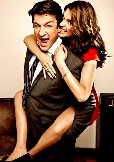 "Castle and Beckett I love this pic but I love even more that it was in the ""popular"" section of Pinterest"