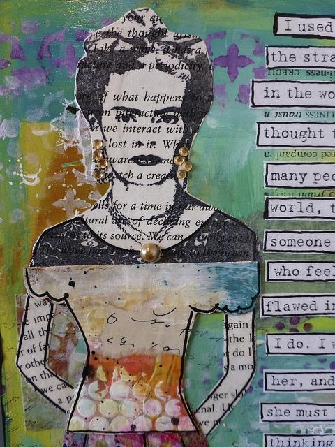 Frida Kahlo Mixed Media Art by nikimaki, via Flickr