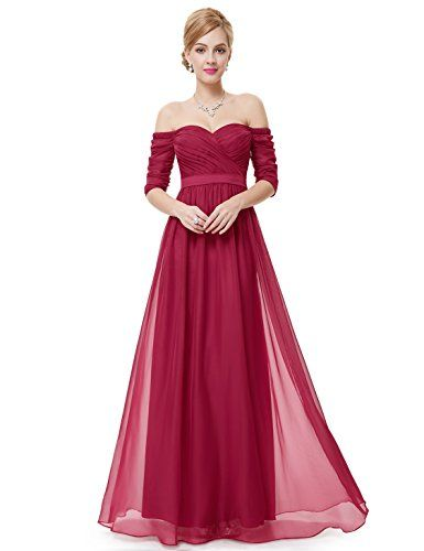 Ever Pretty Womens Retro Off Shoulder Sweetheart Evening Dress 4 US Red *** Click on the image for additional details.