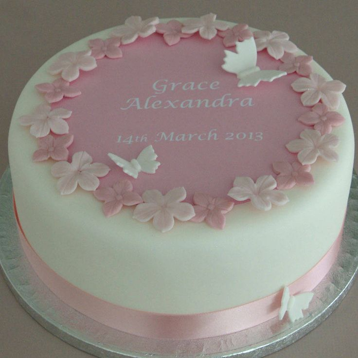 How To Decorate A Christening Cake For A Girl