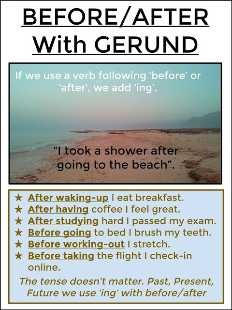BEFORE / AFTER With Gerund