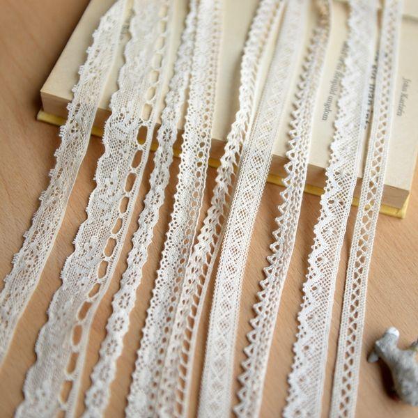 E114 多款棉质花边辅料 米色本色棉线蕾丝花边 手工辅料