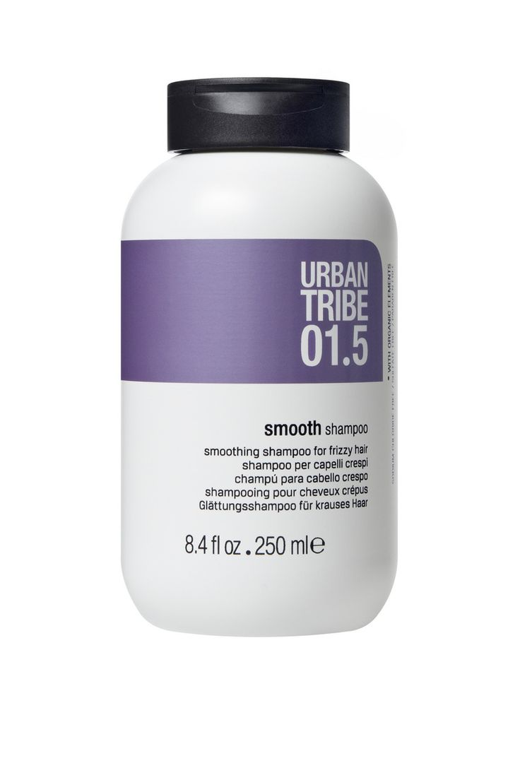 01.5 smooth shampoo by Urban Tribe haircare cleanses the hair, smoothing the cuticle and eliminating frizz.