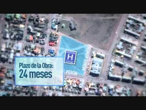 Anuncio de la construcción del hospital Materno Infantil de Alta Complejidad, el Centro de Medicina Nuclear y el Centro de Rehabilitación Integral y Geriatría en Río Gallegos.