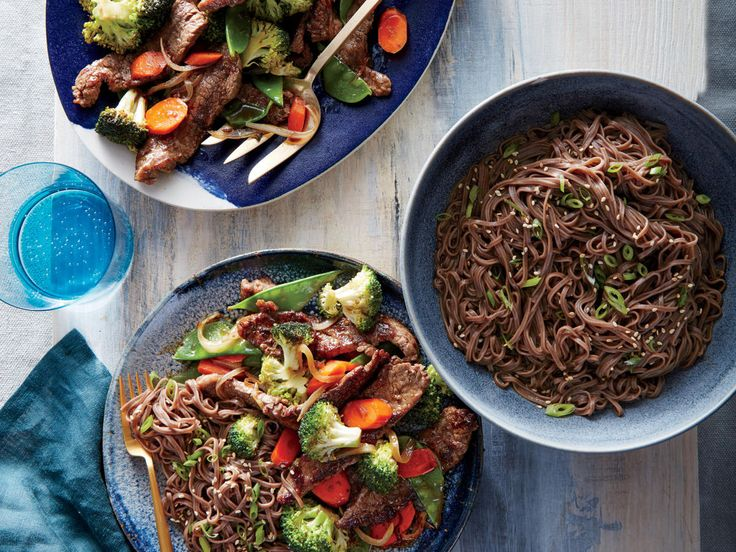 Mongolian Beef and Vegetables | Bring lightened versions (under 350 calories!) of your family's favorites to the dinner table with these simple, satisfying recipes.