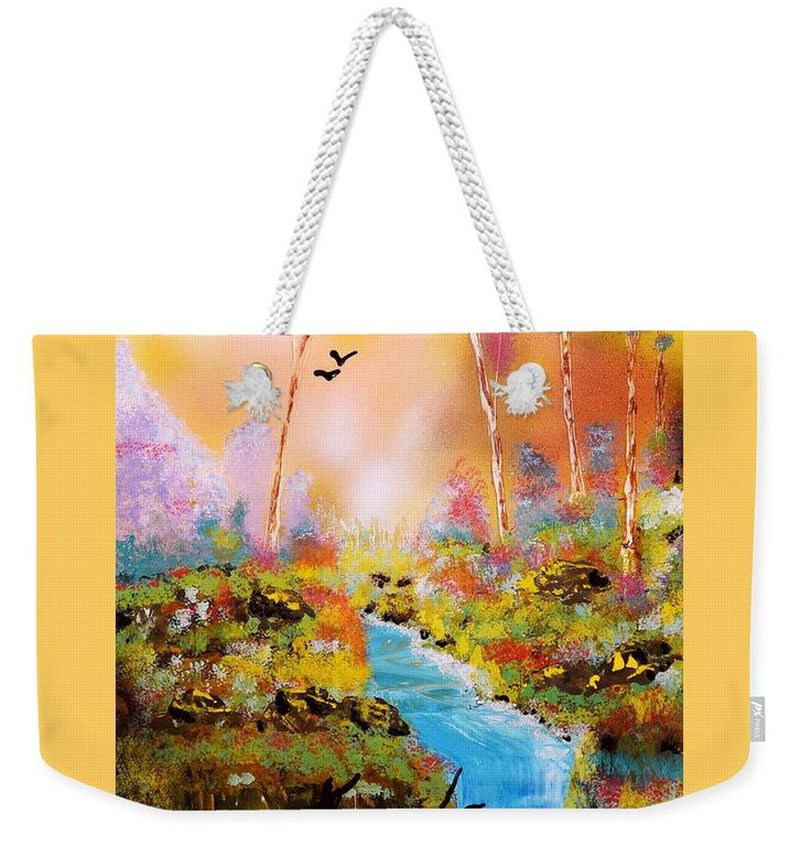 Land Of Oz Weekender Tote Bag Printed with Fine Art spray painting image Land Of Oz Nandor Molnar (When you visit the Shop, change the size, background color and image size as you wish)