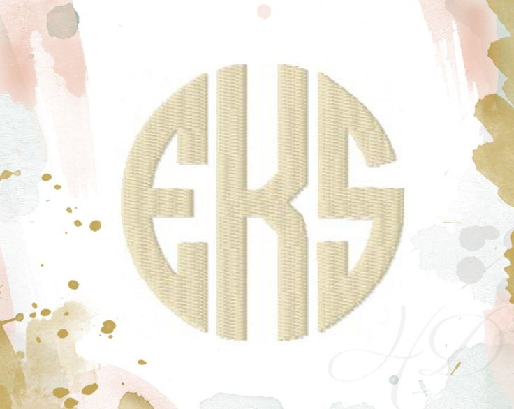 """10"""" inch Circle Monogram Font Classic Font Embroidery Machine Embroidery Instant download BX 6x10 5x7  BX instant download by HerringtonDesign on Etsy https://www.etsy.com/listing/225893587/10-inch-circle-monogram-font-classic"""