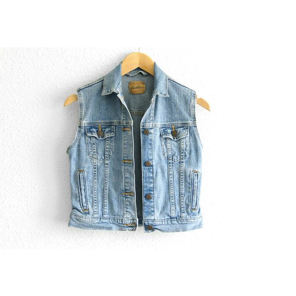 Levis Vest Levis Denim Vest Levis Jean Vest Levis Vest Small Denim... ($58) ❤ liked on Polyvore featuring outerwear, vests, tops, jackets, vintage vest, vintage waistcoat, blue denim vest, levi vest and blue vest