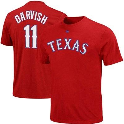Majestic Yu Darvish Texas Rangers #11 Player T-Shirt: Darvish Texas, Texas Rangers, Yu Darvish, Majestic Yu, Rangers 11, Rangers T Shirts, Rangers Player