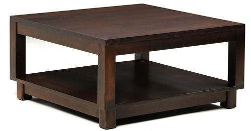 33% Off Urban Square Coffee Table in Oak | Solid Wood Amish Furniture