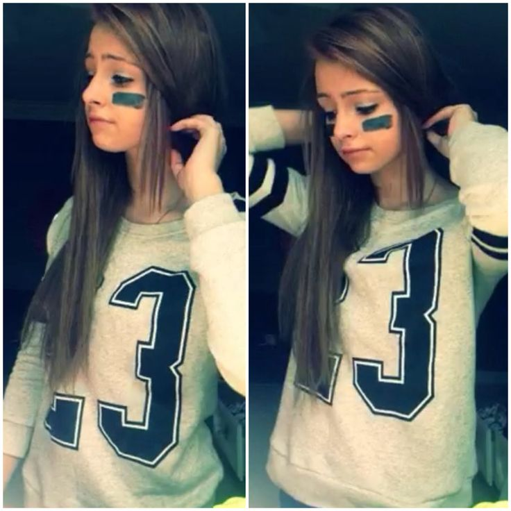 Halloween costume for girls teens football player no 2 for Cute homemade halloween costumes for girls