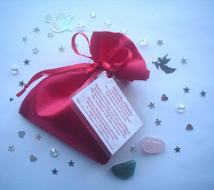 BAG OF BLESSINGS - THANK YOU TEACHER / TEACHING / NURSERY ASSISTANT/ CHILDMINDER #ebay #gifts #crystals #thankyou