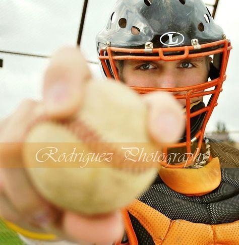 Image result for baseball catcher senior pictures