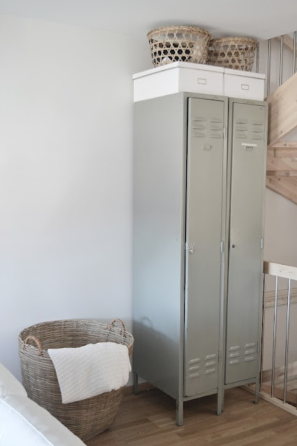 Lockers are a great storage option for the laundry/mud room