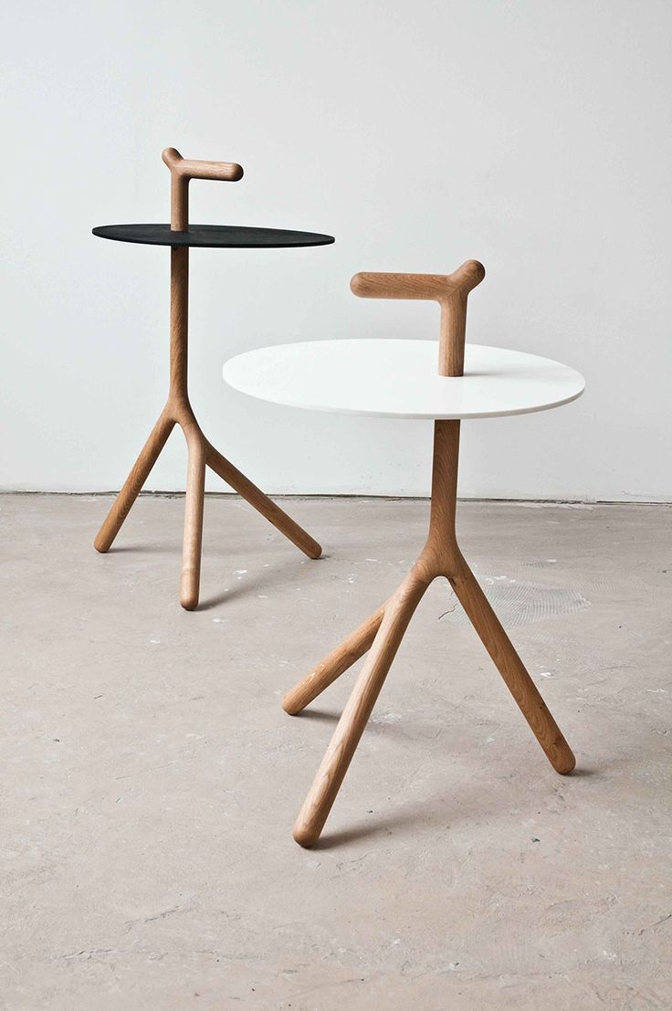 Yot // side table Designed by Florian Saul - with a handle! #furniture_design