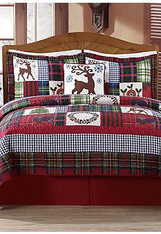 Day by Day� Deck The Halls 5-Piece Quilt Set Belk Christmas 2014
