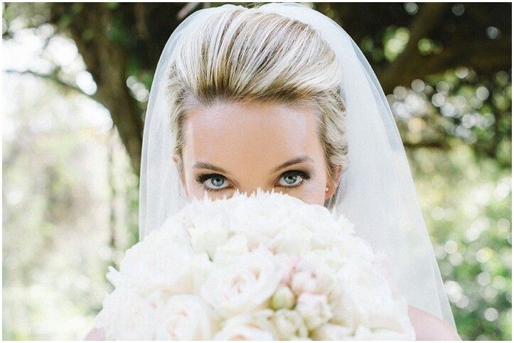 Jacky Waldauer on her wedding day. PHOTOGRAPHY BY www.brightgirlphotography.co.za Hair by Drew Christie of Evolve Salon.  Makeup by Charelle- Facebook Pages- Makeup by Charelle.  #Bridal #Beauty #BlondeBride #Boquet #Wedding #Fresh #Makeup #Makeupbycharelle