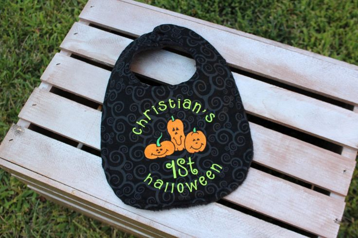Personalized Baby's 1st Halloween by IzzyandLizzyBoutique on Etsy https://www.etsy.com/listing/240323777/personalized-babys-1st-halloween