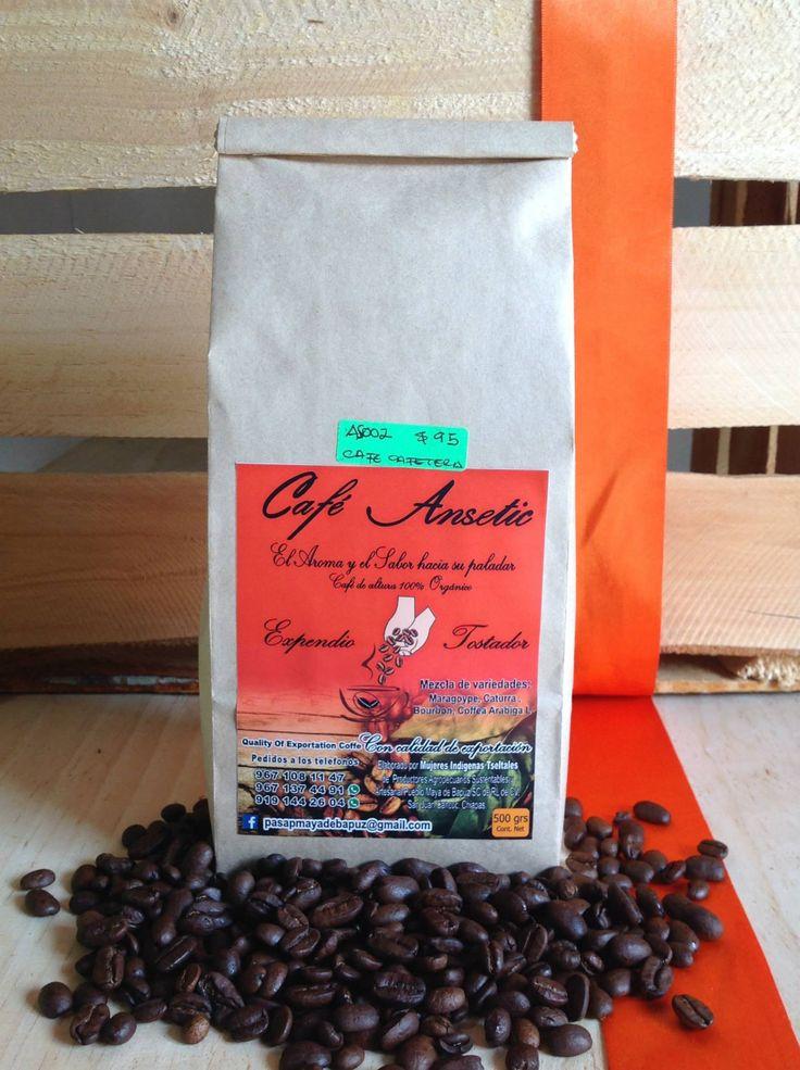 CAFE ANSETIK.   En presentación 500gr café de altura. olla, cafetera y grano. origen: Municipio de San Juan Cancuc. mezcla de variedades; maragoype, caturra, bourbon. ELABORADO POR MUJERES INDÍGENAS TSELTALES.  SERVICIO A DOMICILIO CONSUME LO HECHO EN CHIAPAS — en San Cristóbal de Las Casas. #CASANaranja