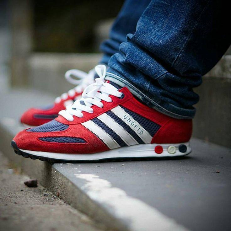 online store 35593 9bd9f Adidas La Trainer Red White Blue