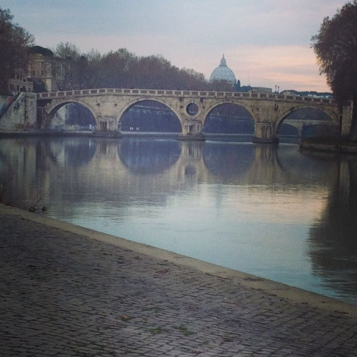 #Tiber river right by john Cabot university. The sun was setting after a day filled with rain. This #photo is so #picturesque it is like a painting to me.