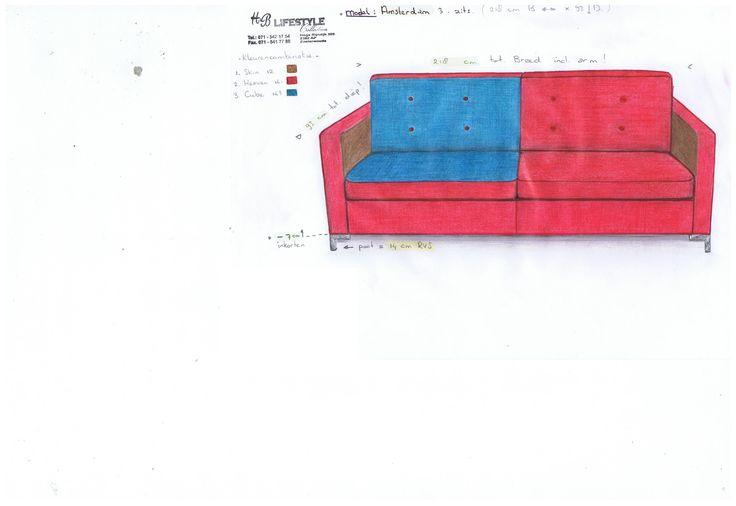 Tekening voor familie van der SAR, naar eigen kleur wens gecombineerd.
