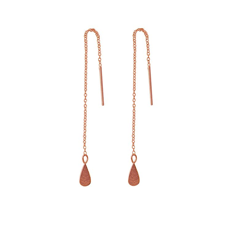 Tear Drop Thread in Rose Gold. Shop the collection at www.murkani.com.au