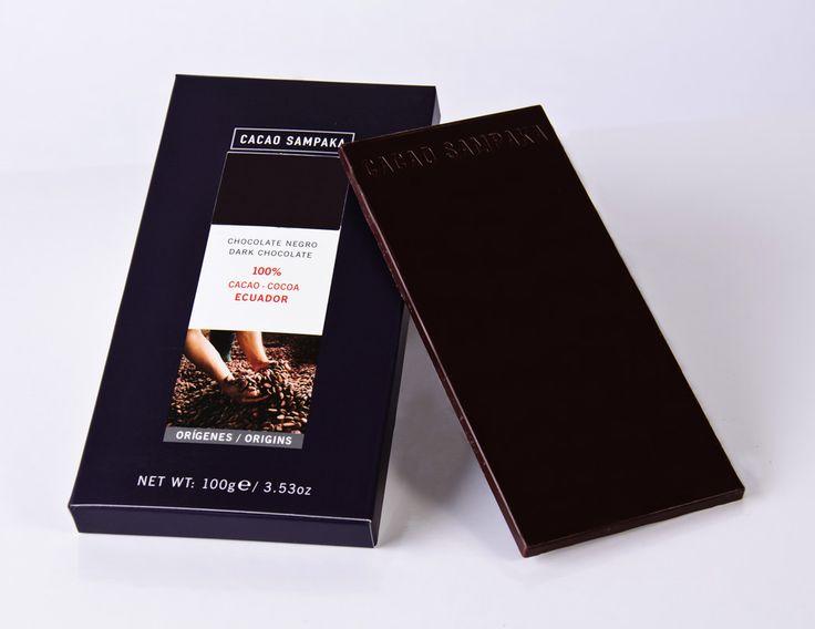 C Sampaka 100g. Ciocolata neagra 100% cacao Ecuador