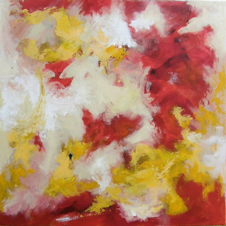 Abstract Acrylics 120x120 cm - title: NoName by Celina Schou