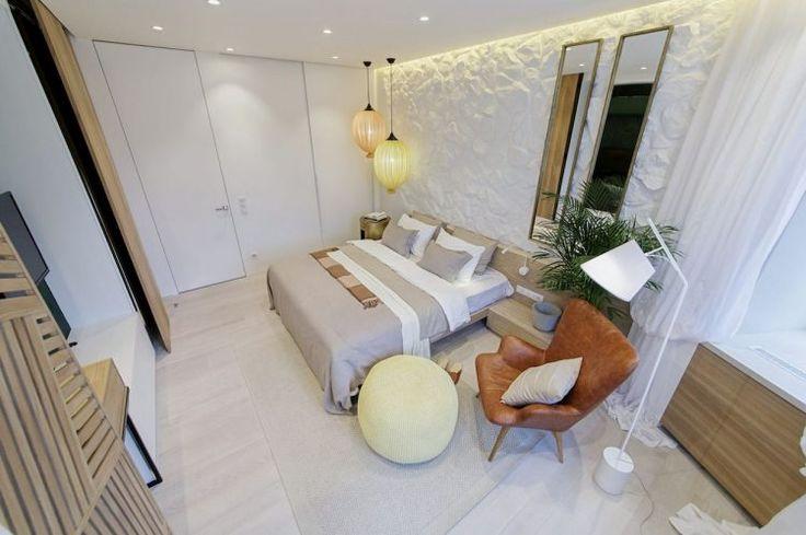Hálószoba felújítás és berendezés, világos, természetes, kényelmes, tágas kialakítás sok tárolóhellyel, szép fa elemekkel
