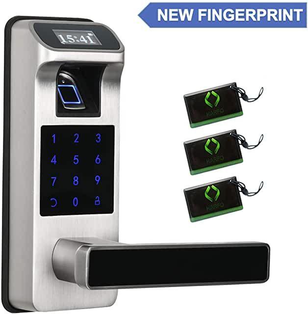 Amazon Com Keyless Front Door In 2020 Fingerprint Door Lock Fingerprint Door Locks