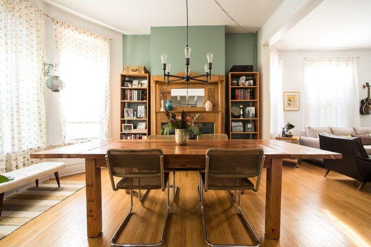 O ambiente na casa em Chicago mostra que é possível misturar elementos retrô e contemporâneos