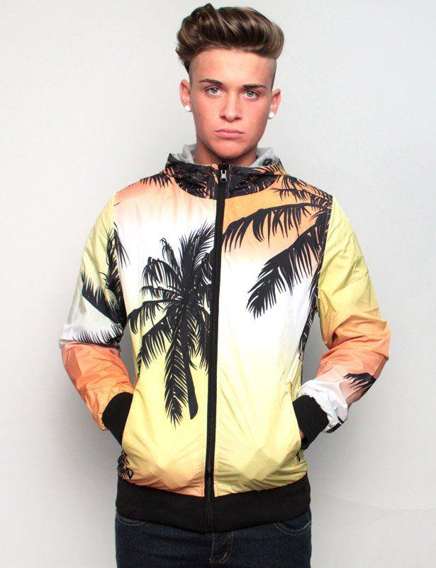 Shoeshine jacket reversible sunset-grey melange