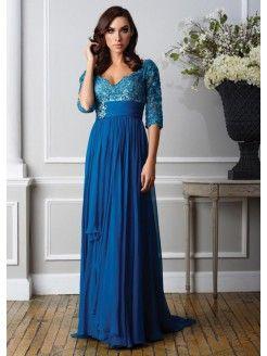 Amazing A-Line/Princess Floor-Length Chiffon Mother of the Bride Dress