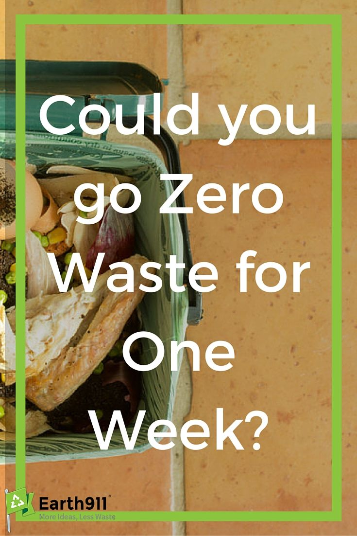 Going zero waste is a lot tougher than you might think. I don't think I could do it for a whole week but maybe I'll give it a try!