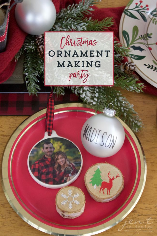 Christmas Ornament Making Party With Cricut Jen T By Design Christmas Ornaments Clear Christmas Ornaments Christmas Ornaments Homemade