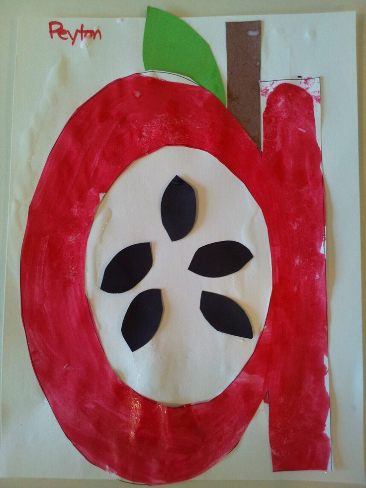 A is for Apple, preschool craft