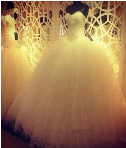 Robe De Mariage Princess Bling Luxury Crystals White Wedding Dress Gown 2016 Bridal Wedding Gown Vestido De Noiva custom made
