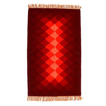 Hand-Woven Rug 31x411 Red, $99, now featured on Fab.