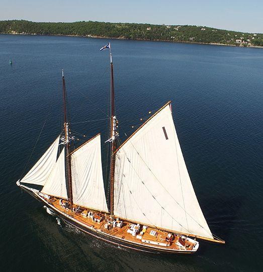 Bluenose II sailing along Nova Scotia's South Shore