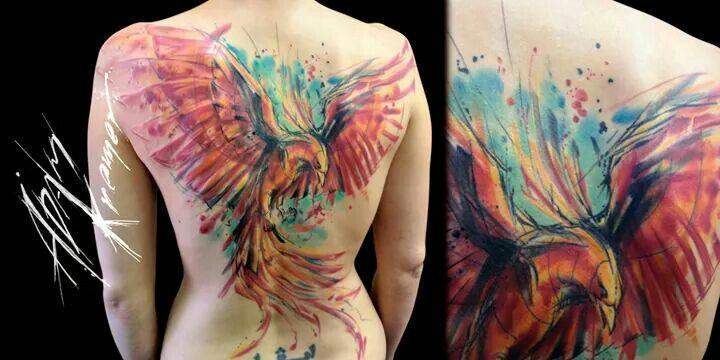 Phoenix! Awesome skin art!