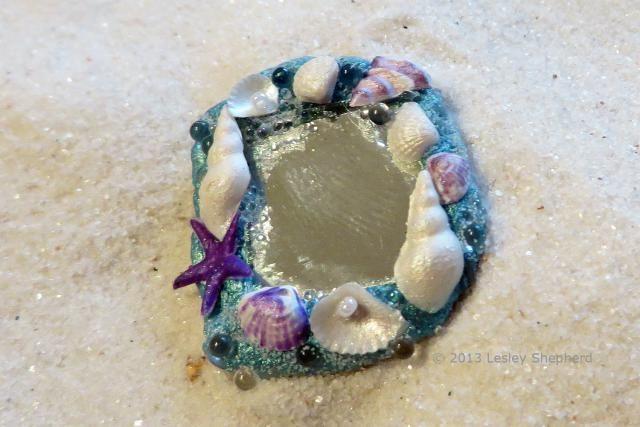 Make a Miniature Mermaid or Fairy  Mirror: Make a Miniature Mermaid or Fairy Mirror Using Two Part Epoxy Putty