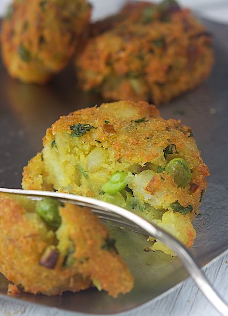 Indian Aloo Tikki (Gluten free, Dairy free & Vegan).  NOTE: Recipe for Gluten-free garam masala spice can be found here: http://www.wheat-free.org/wheat-gluten-free-garam-masala.html
