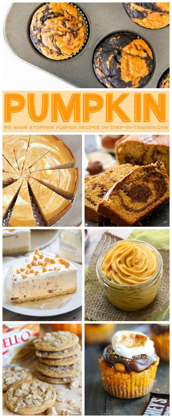 50 Show Stopping Pumpkin Recipes on chef-in-training.com …SO many great and yummy pumpkin recipes to choose from for fall!
