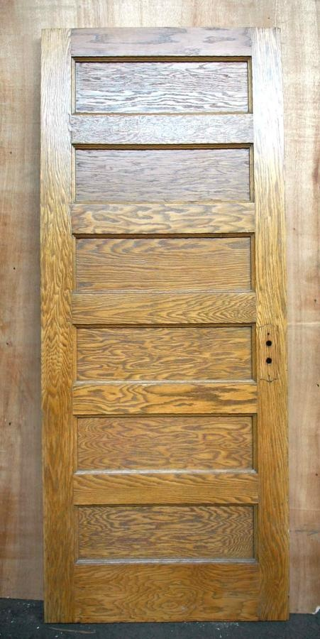 Oak six recessed panel door 5th street pinterest for Recessed panel shutters