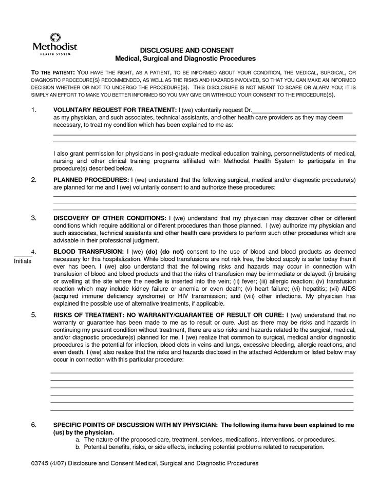21 best Consent form images on Pinterest Med school, Medical and - medical consent form template