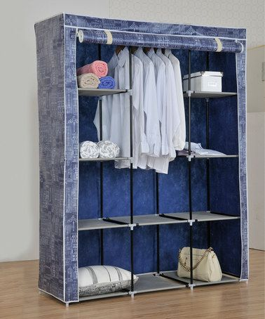 Love this Light Blue Portable Wardrobe Closet on #zulily! #zulilyfinds